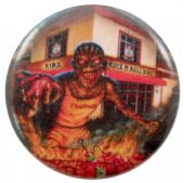 Iron Maiden - 'Eddie Rock 'n' Roll Ribs' Button Badge
